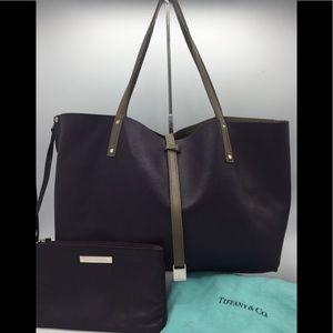 Tiffany & Co. Leather Reversible Medium Tote Bag